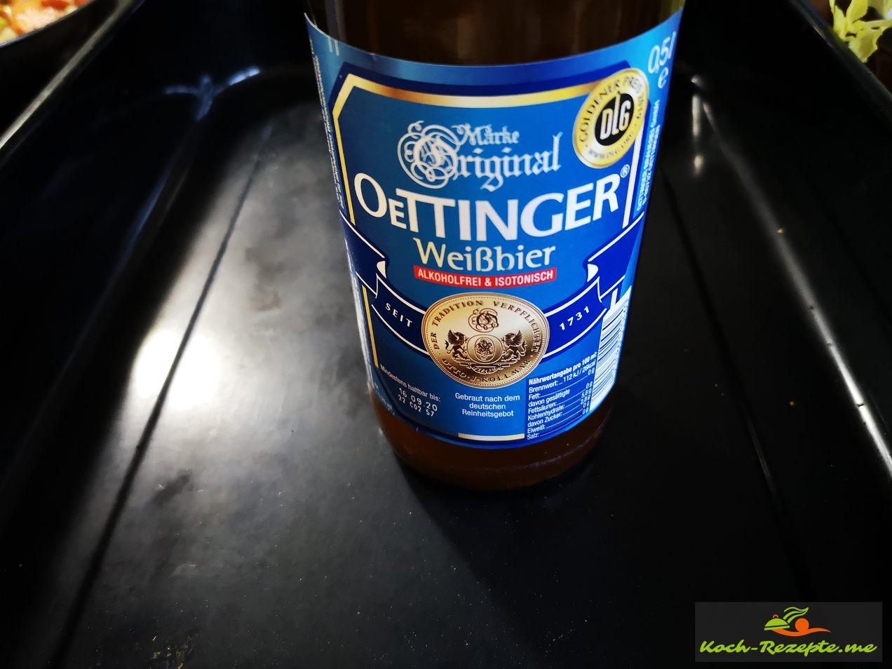 Bier angießen