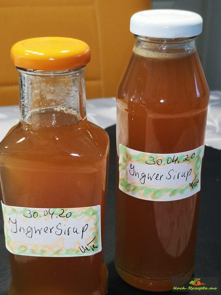 Zitrone Ingwer Sirup
