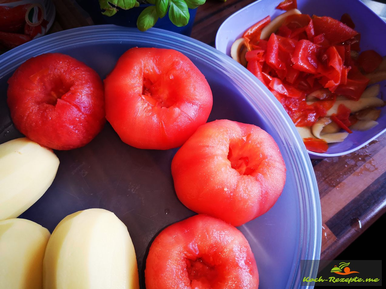 Tomaten Häuten