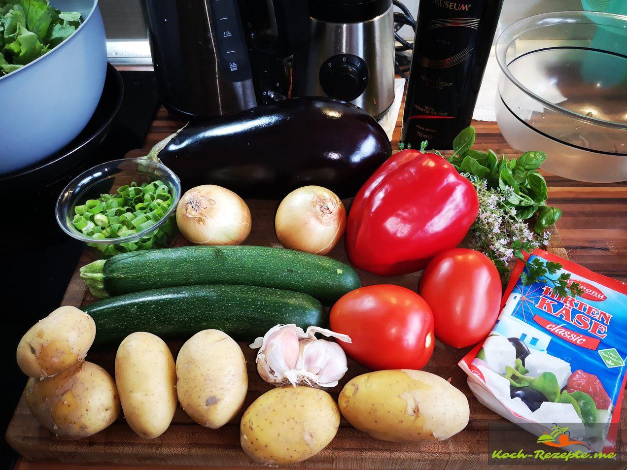 Zutaten für  Griechischer Gemüseauflauf