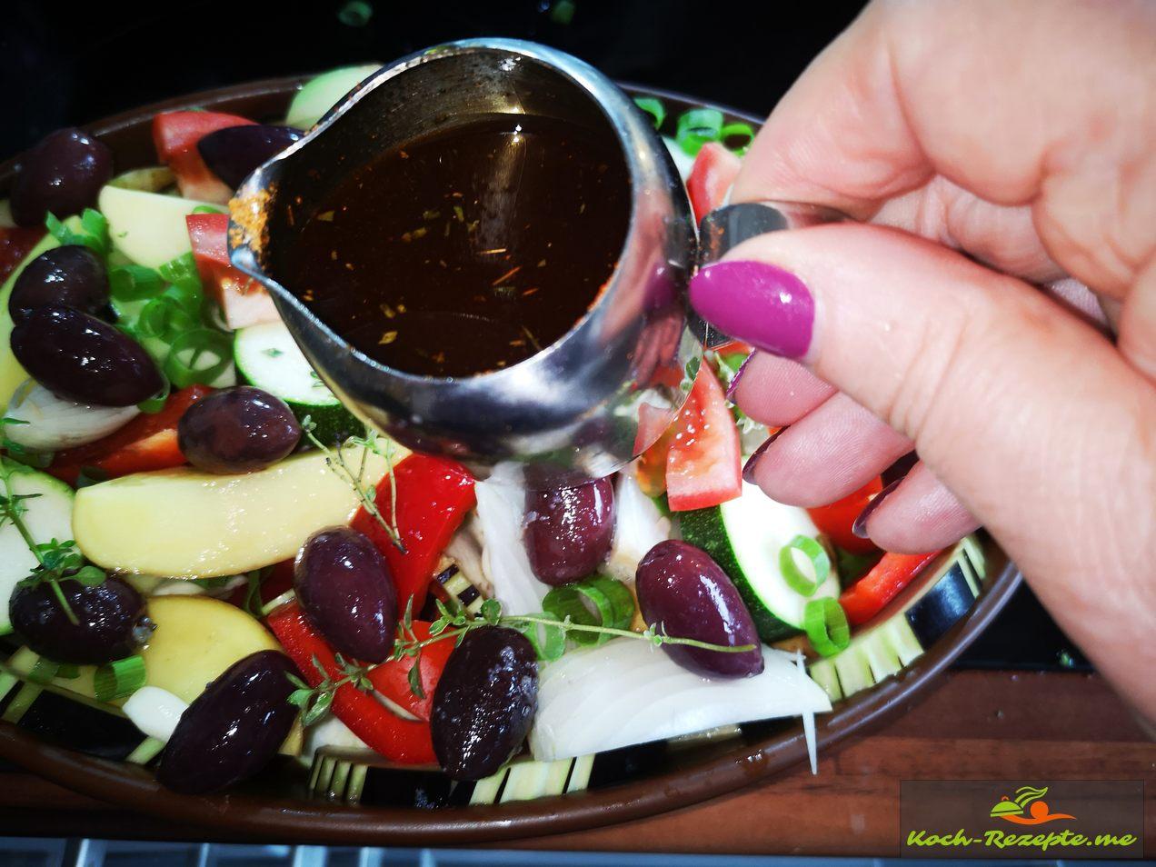 Olivenöl mit Kräuter und Gewürze
