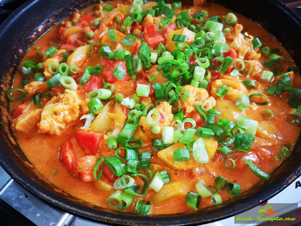 Blumenkohl,Kartoffel,Currypanne