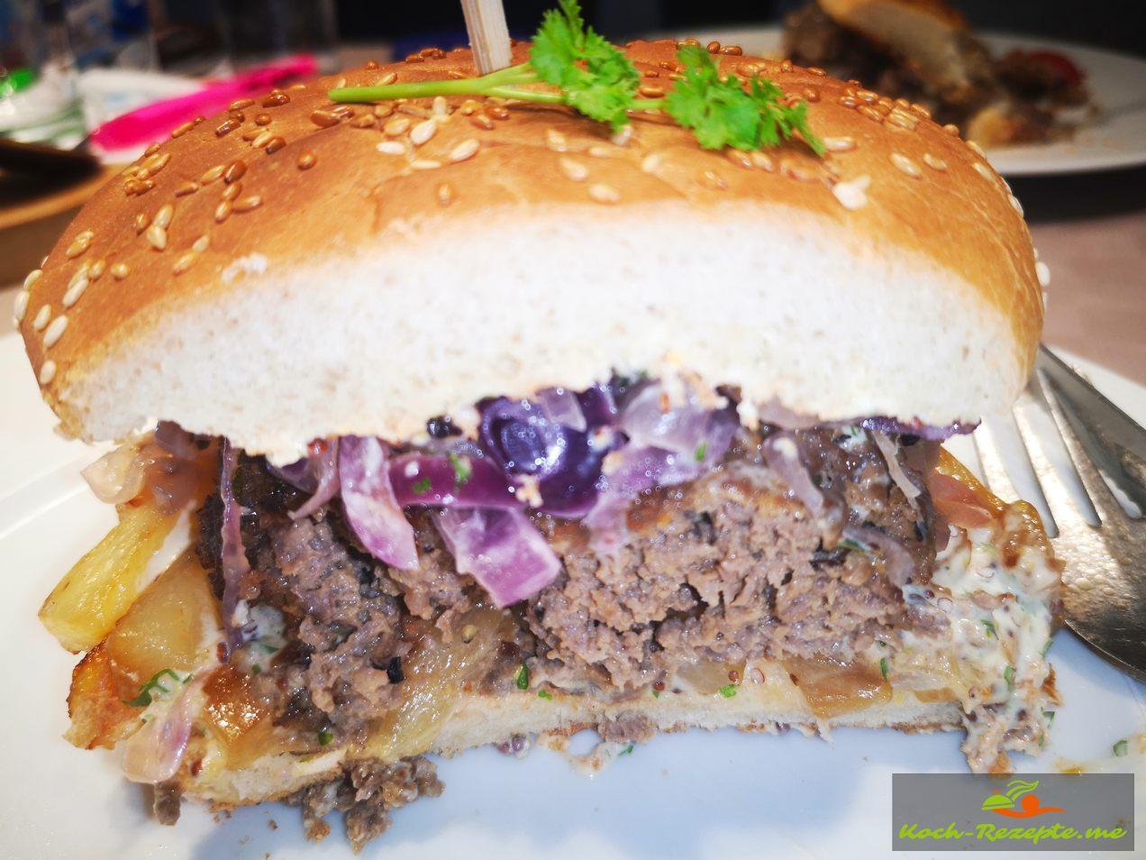 Ein Hamburger im neuen Gewand California-Burger Spezial