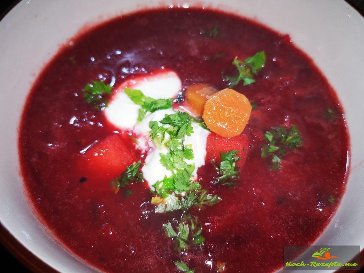 Borschtsch Suppe