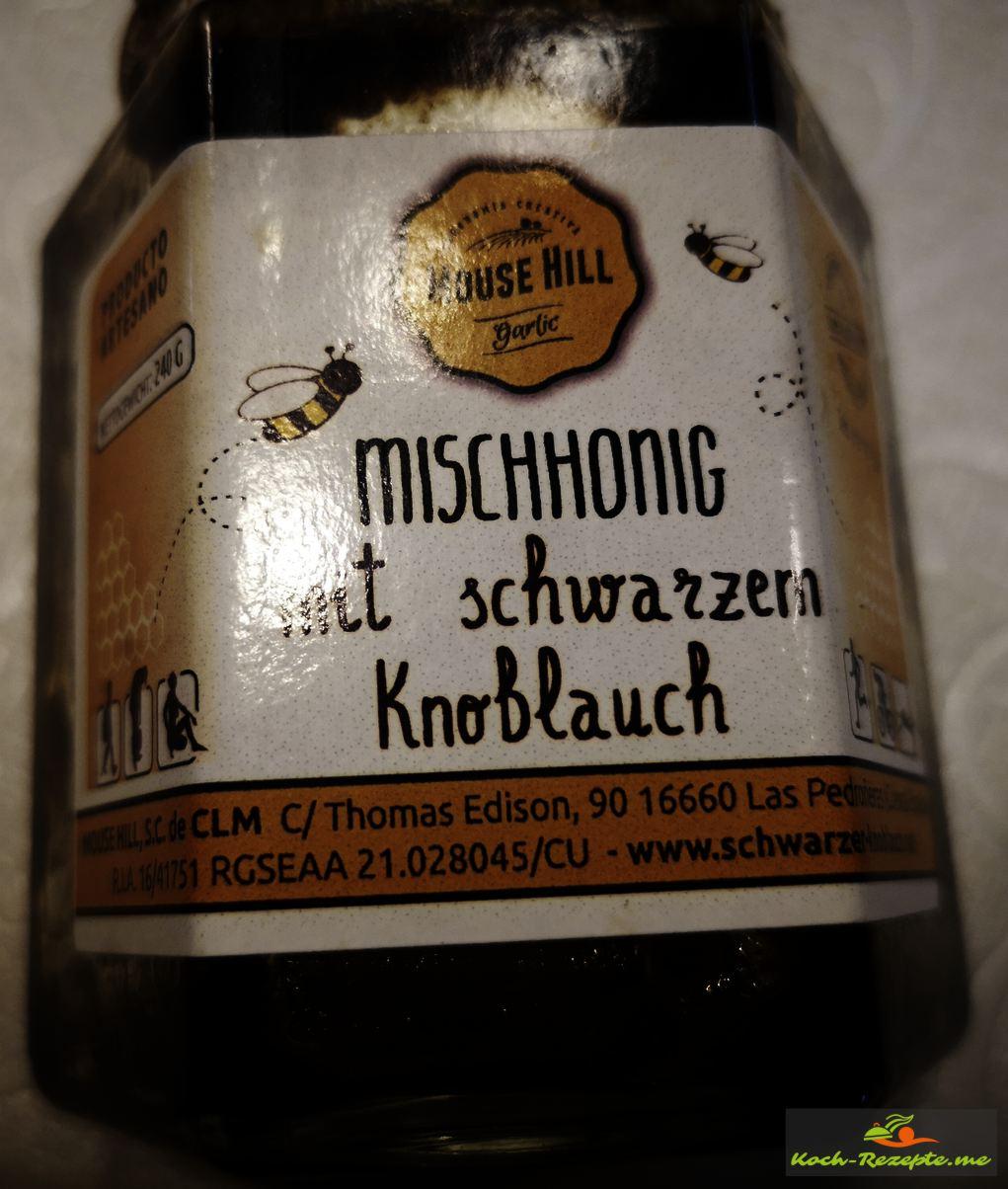Schwarzer Knoblauchhonig