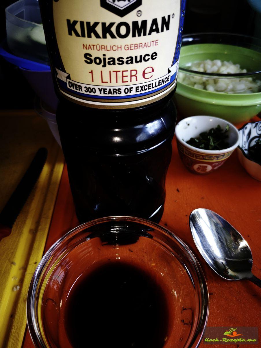 Sojasauce Laap Gai Rezept, Hähnchensalat
