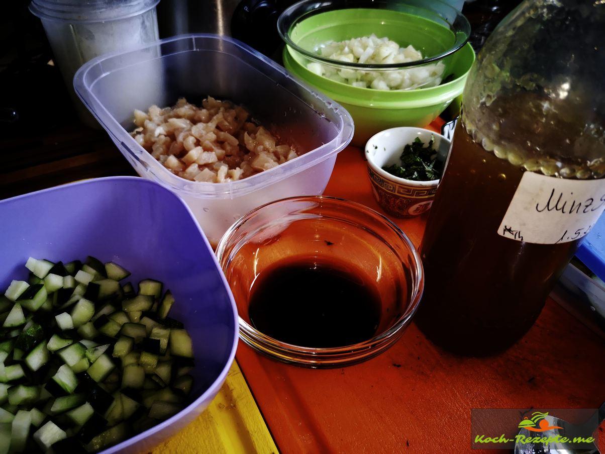 Laap Gai Rezept und Zutaten für  Hähnchensalat asiatisch